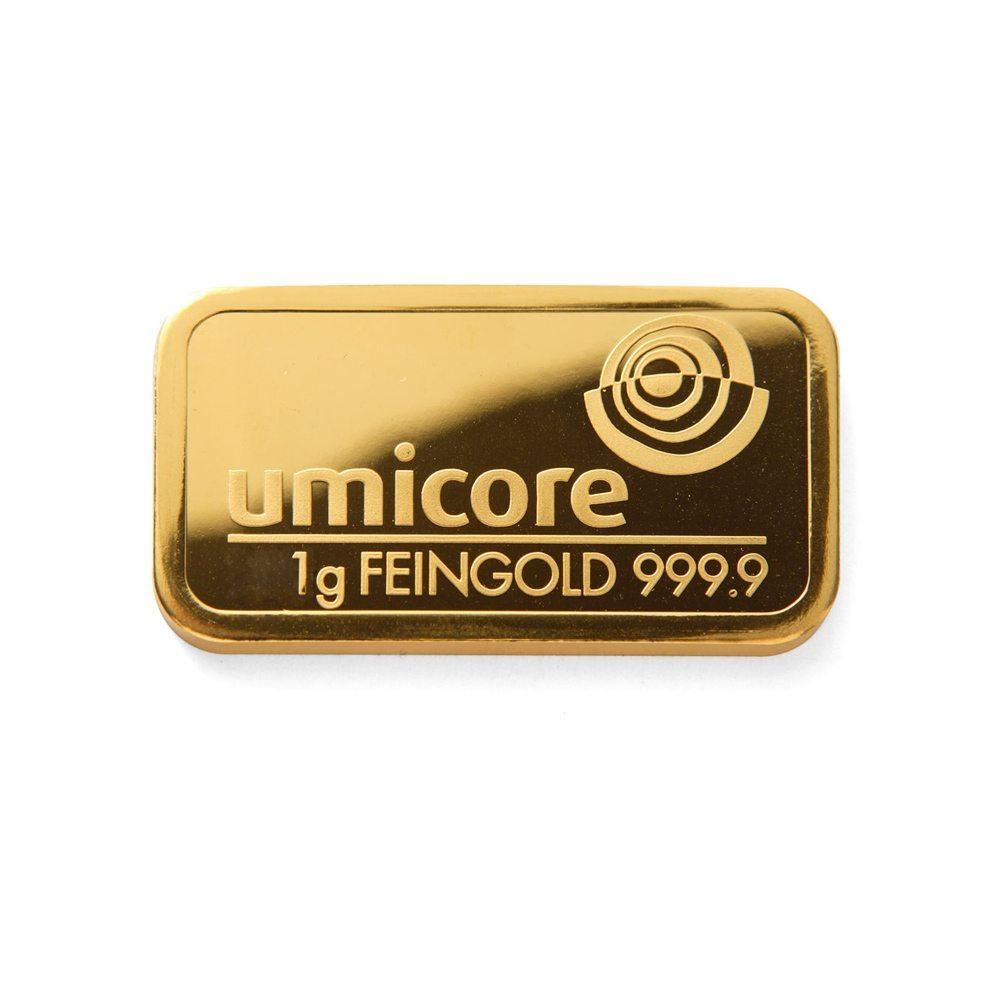 Umicore 1 Gram Gold Bar Gold Forever