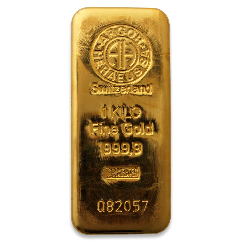 Metalor 1 Kilogram Gold Cast Bar Gold Forever