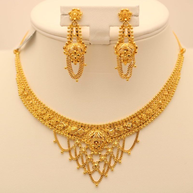 dubai jewelry carat buy indian light detail necklace product sets weight gold plated set bridal layered