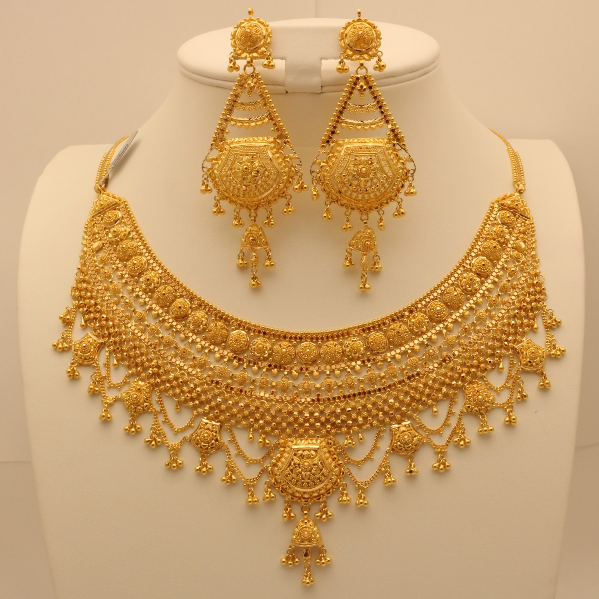 gold plain necklace jewelry icefire from surat set heavy manufacturer