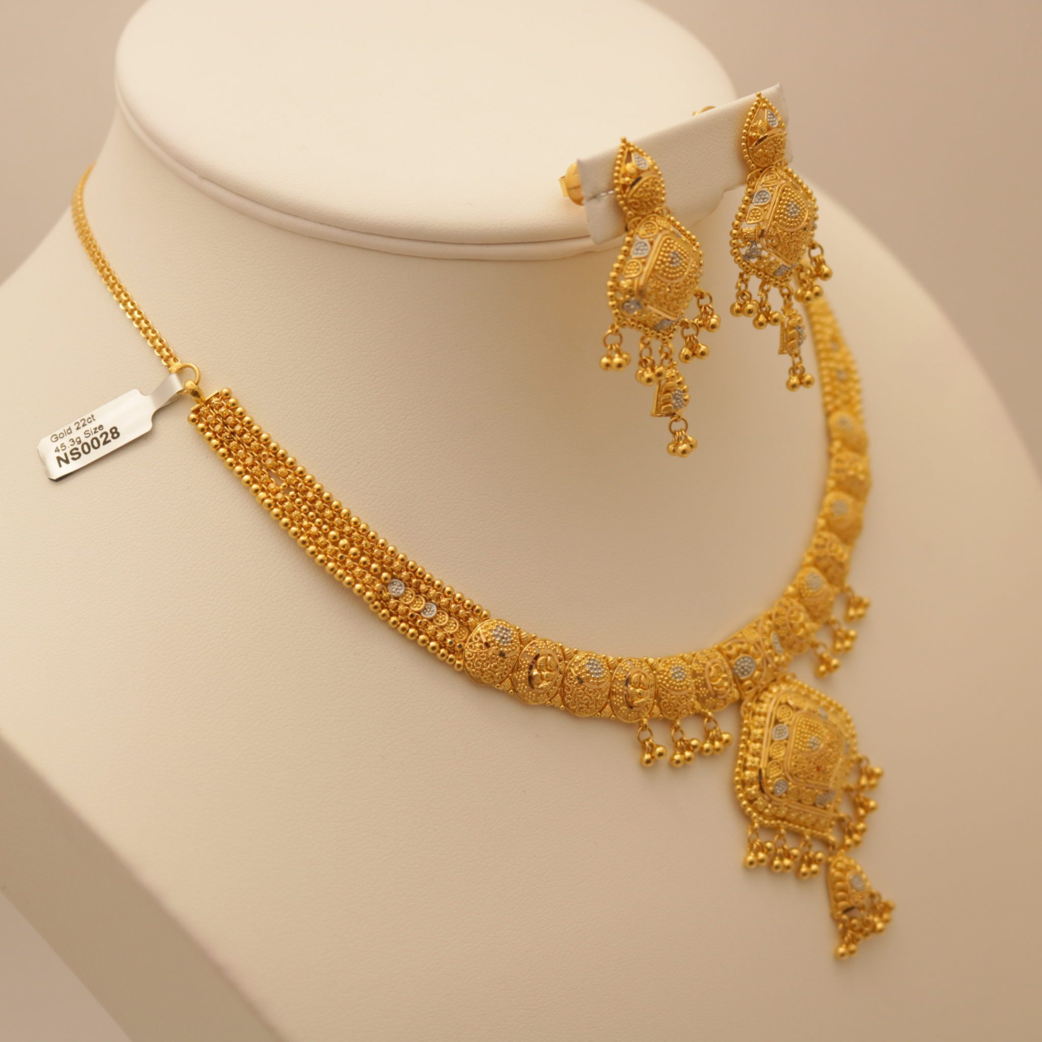 22 Carat Indian Gold Necklace Set 45 3 Grams Gold Forever