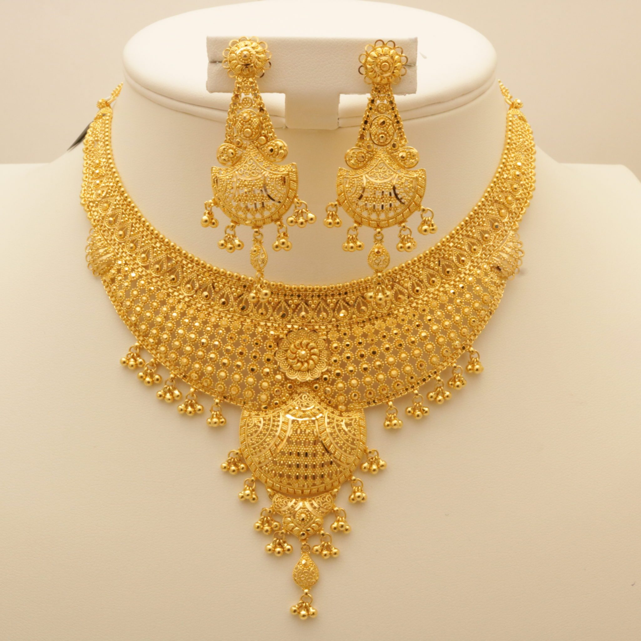 necklace from bridal heavy carat manubhai sets gold n jewellers