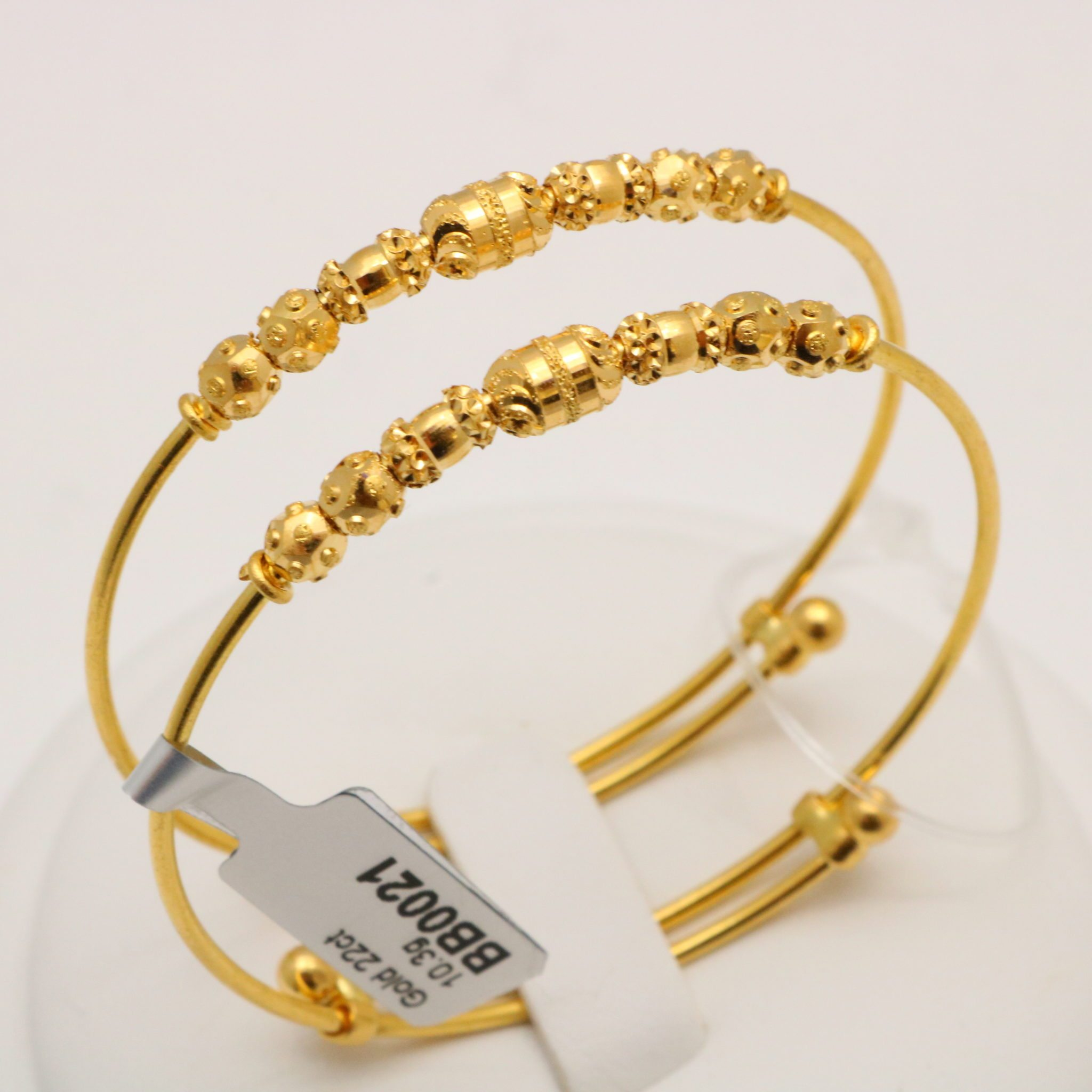 gold yellow baby expandable bangle in
