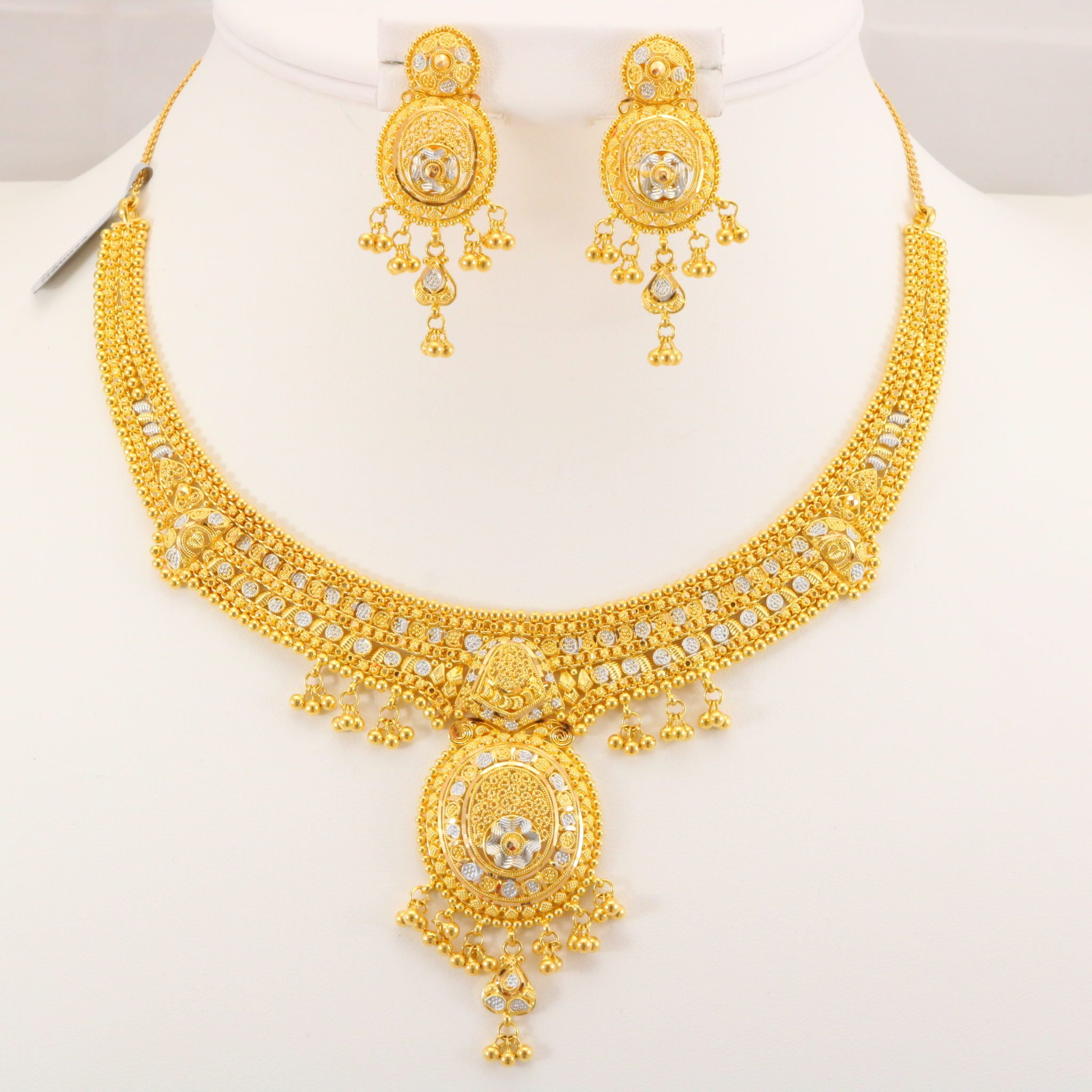 22 Carat Indian Gold Necklace Set 46 6 Grams Gold Forever