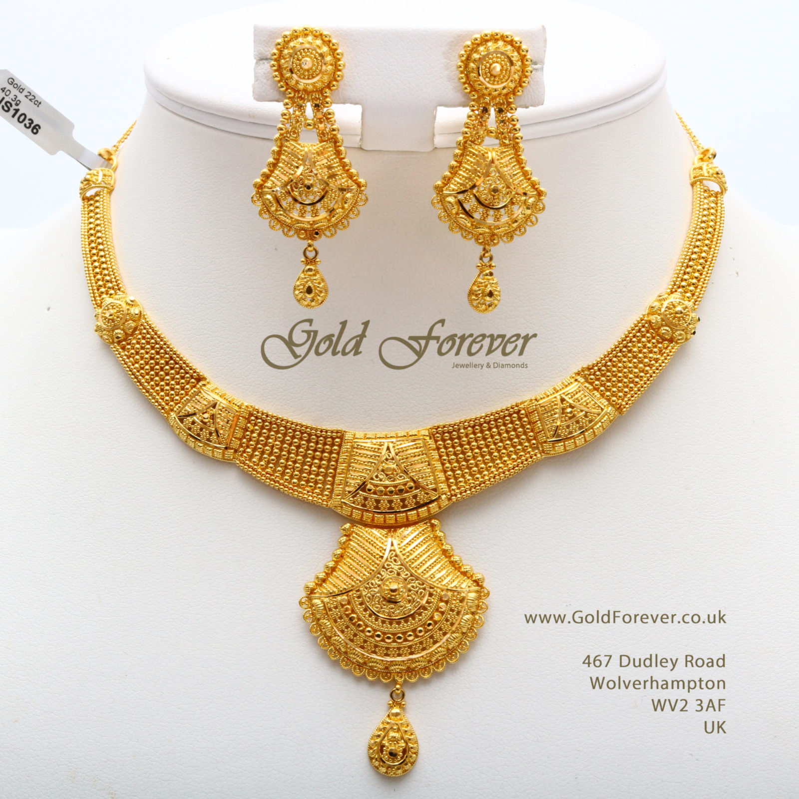 Traditional Gold Necklace Designs In 40 Grams