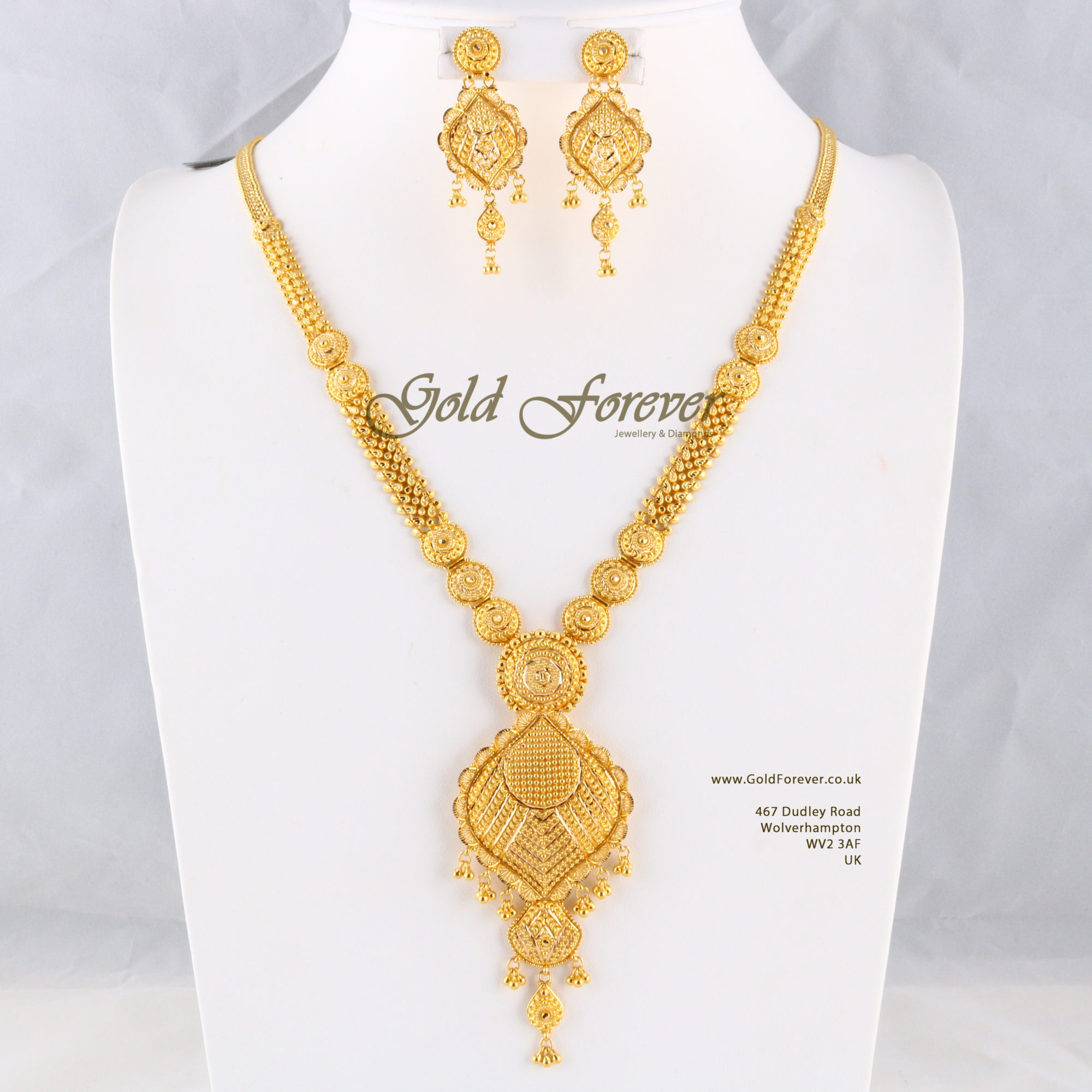 22 Carat Indian Gold Long Necklace 62 2 Grams Code Ls1118001