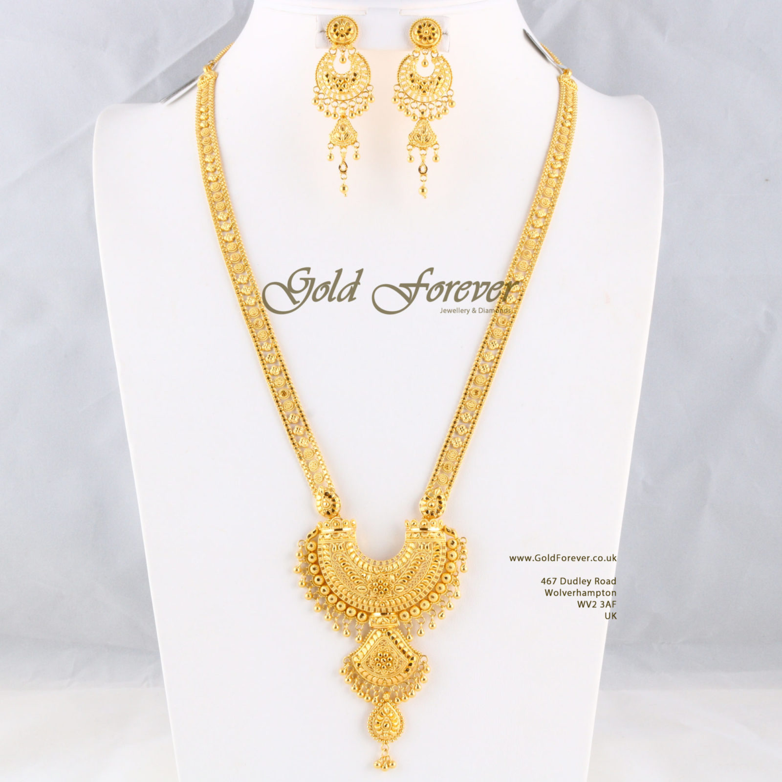 22 Carat Indian Gold Long Necklace 57 9 Grams Code Ls1118003